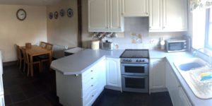 the kitchen in the coach house